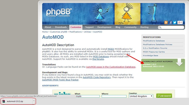 How to Install auto mod in phpBB (stepBystep) - M D Soft Co ,Ltd